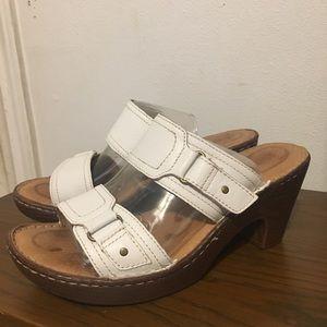 BORN slide wedge sandals